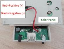 Connection to Solar Panel